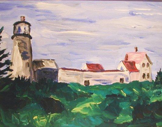 Lighthouse on Monhegan