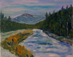 First snow on the Ammonoosuc River