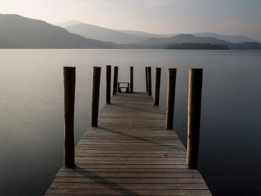 Derwent Water pier, Lakes District UK